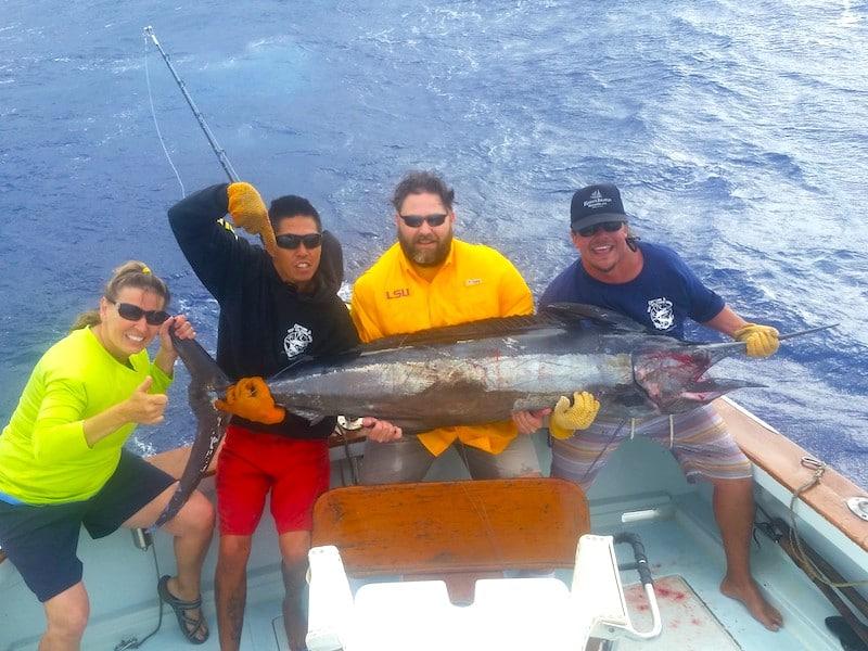 Marlin catch, Kauai