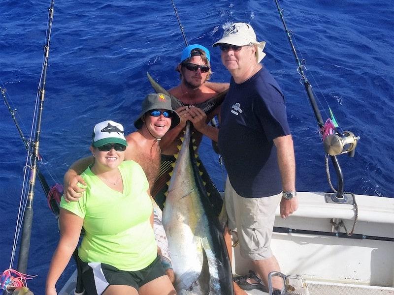 Fishing for Yellow Fin Tuna, Ahi