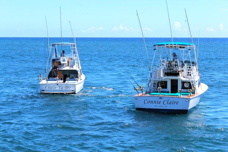 Deep Sea Fishing boats Kauai