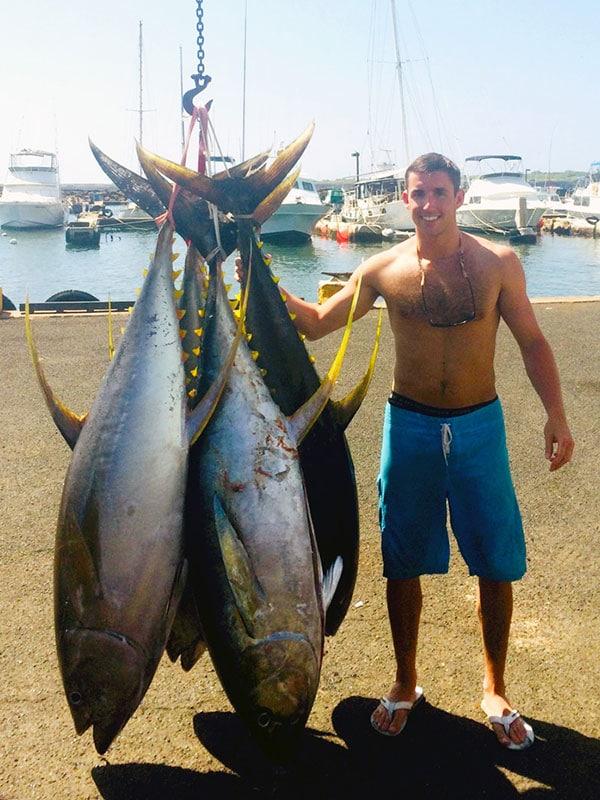 Yellow Fin Tuna/Ahi caught on Kauai fishing charter