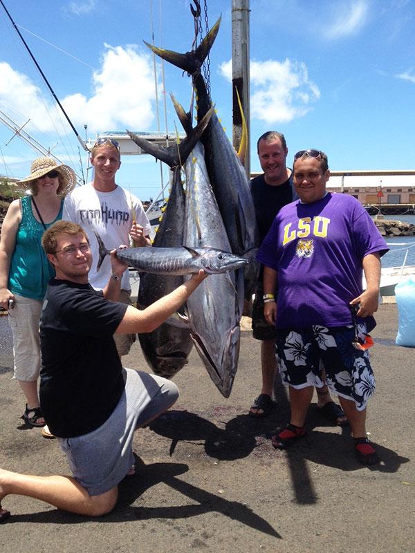 Deep Sea Fishing Kauai - Ono and Ahi