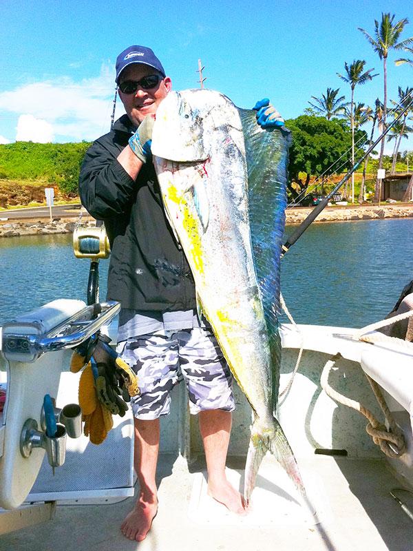 Mahi Mahi caught on Kauai