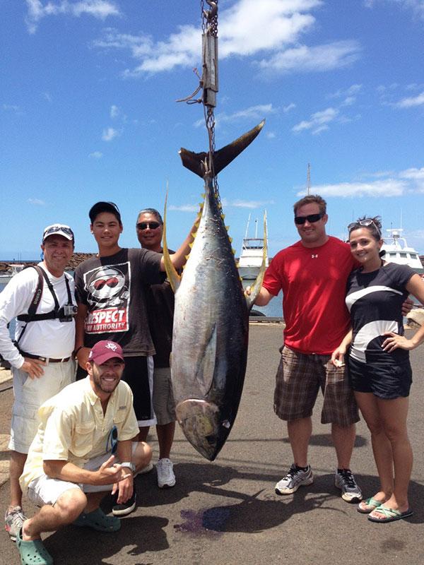 Yellow Fin Tuna Fishing on Kauai
