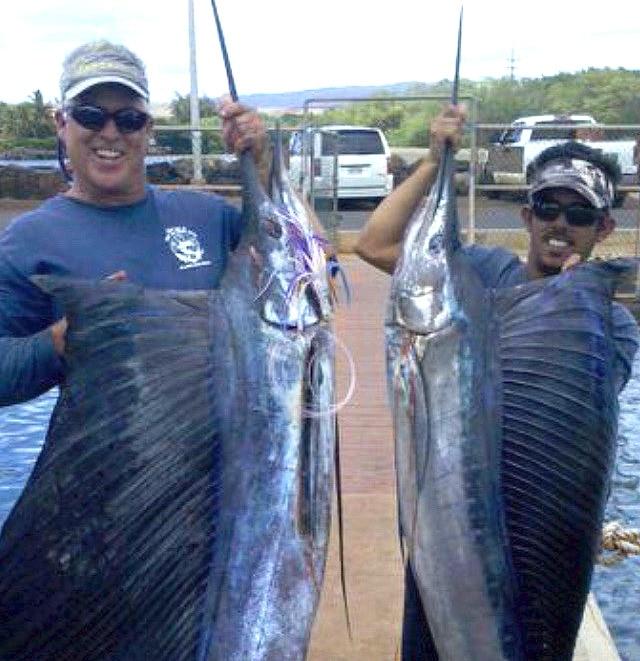 Sailfish catch, Captain J's Deep Sea Fishing Kauai